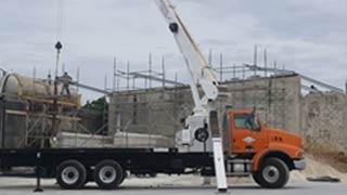 Concrete blocks being delivered