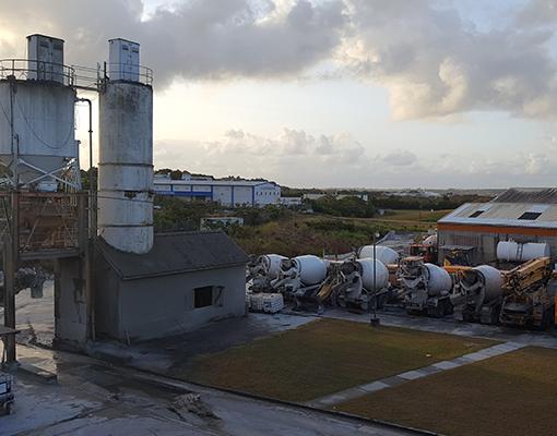 Concrete production site
